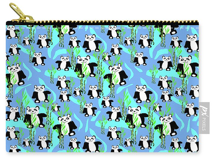 Cute Panda Bears Pattern - Carry-All Pouch