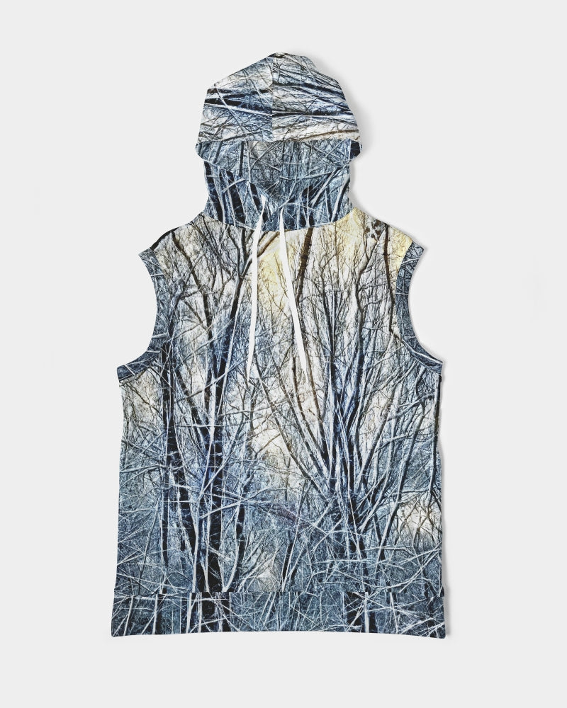 4 Oclock Winter Landscape Men's Premium Heavyweight Sleeveless Hoodie