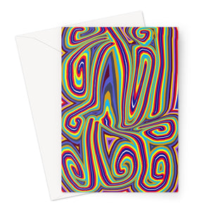 Curly Swirls Greeting Card