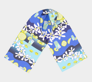 Lemonade Pattern Long Scarf