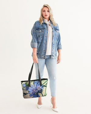 Blue Wildflowers Stylish Tote