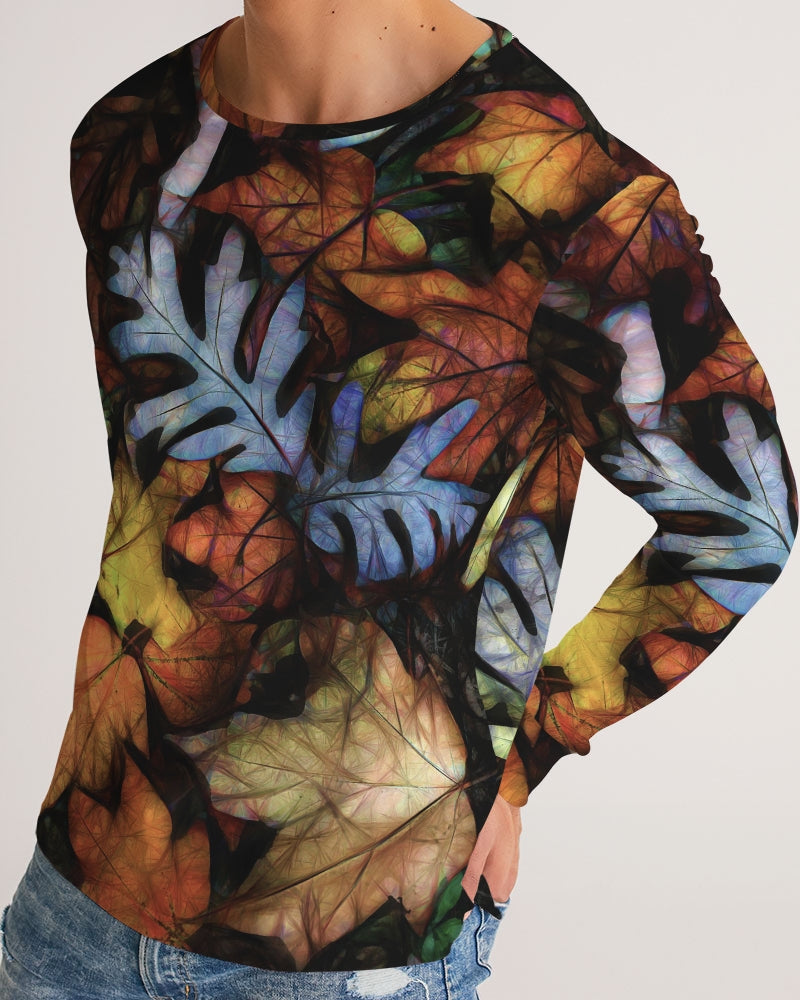 Mid October Leaves Men's Long Sleeve Tee