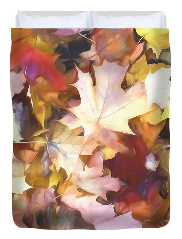 Fall Leaves Bright - Duvet Cover