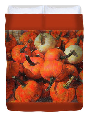 Fall Pumpkin Pile - Duvet Cover