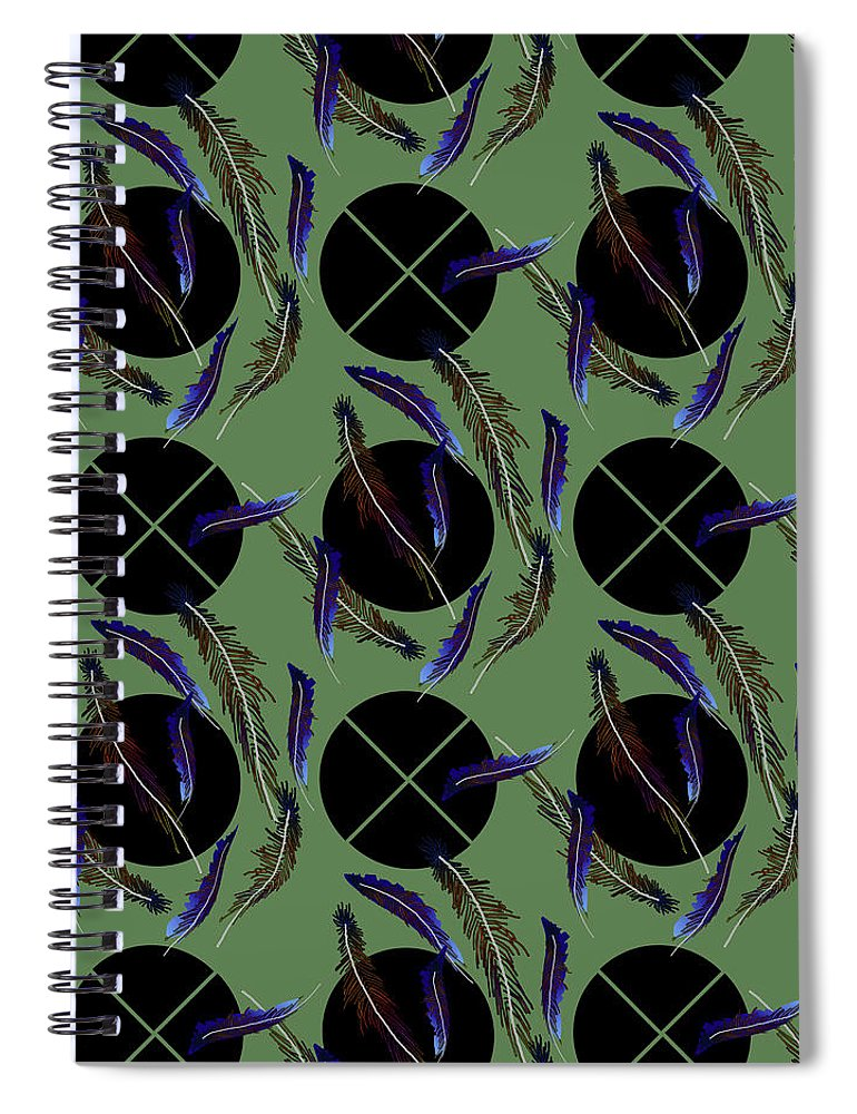Feathers and Polkadots - Spiral Notebook