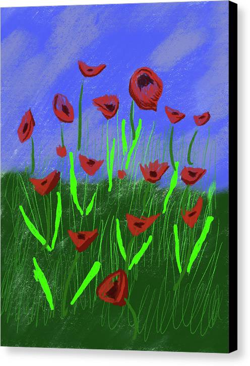 Field Of Poppies - Canvas Print