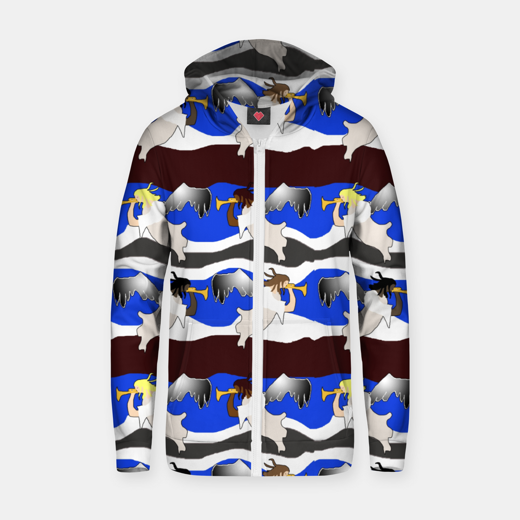 Angels Pattern Zip up hoodie