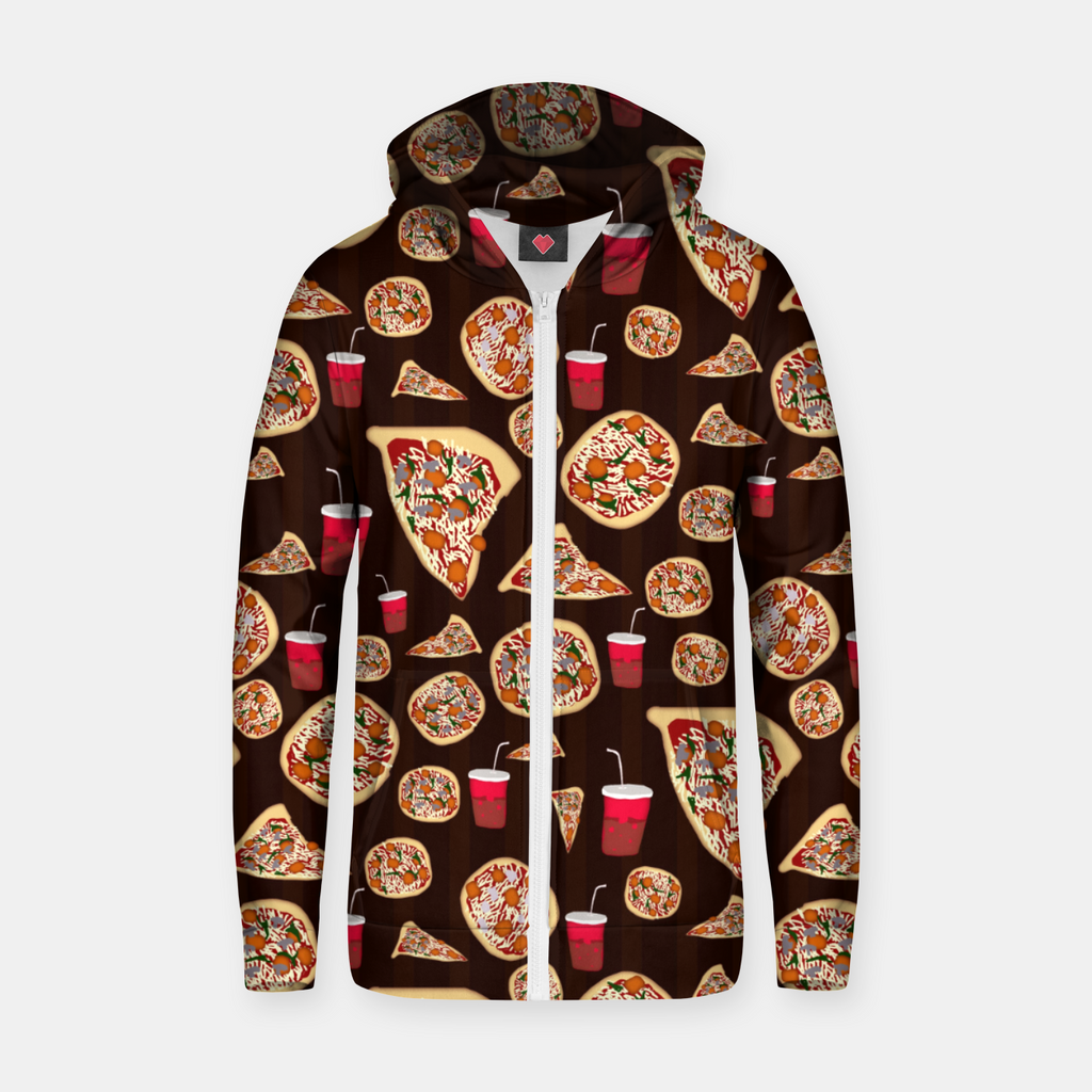 Pizza Pattern Zip up hoodie