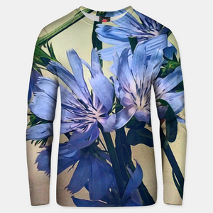 Blue Wildflowers Cotton sweater