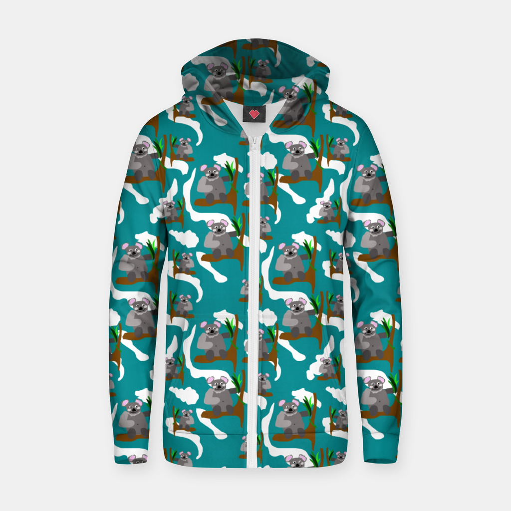 Koala Bears Pattern Zip up hoodie
