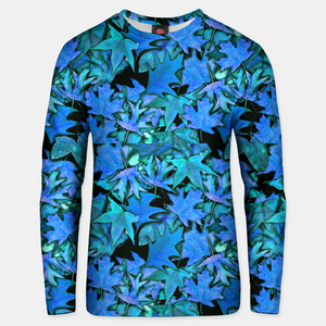 Blue Fall Leaves Unisex sweater