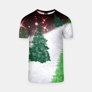 Trees on a Christmas Hill T-shirt