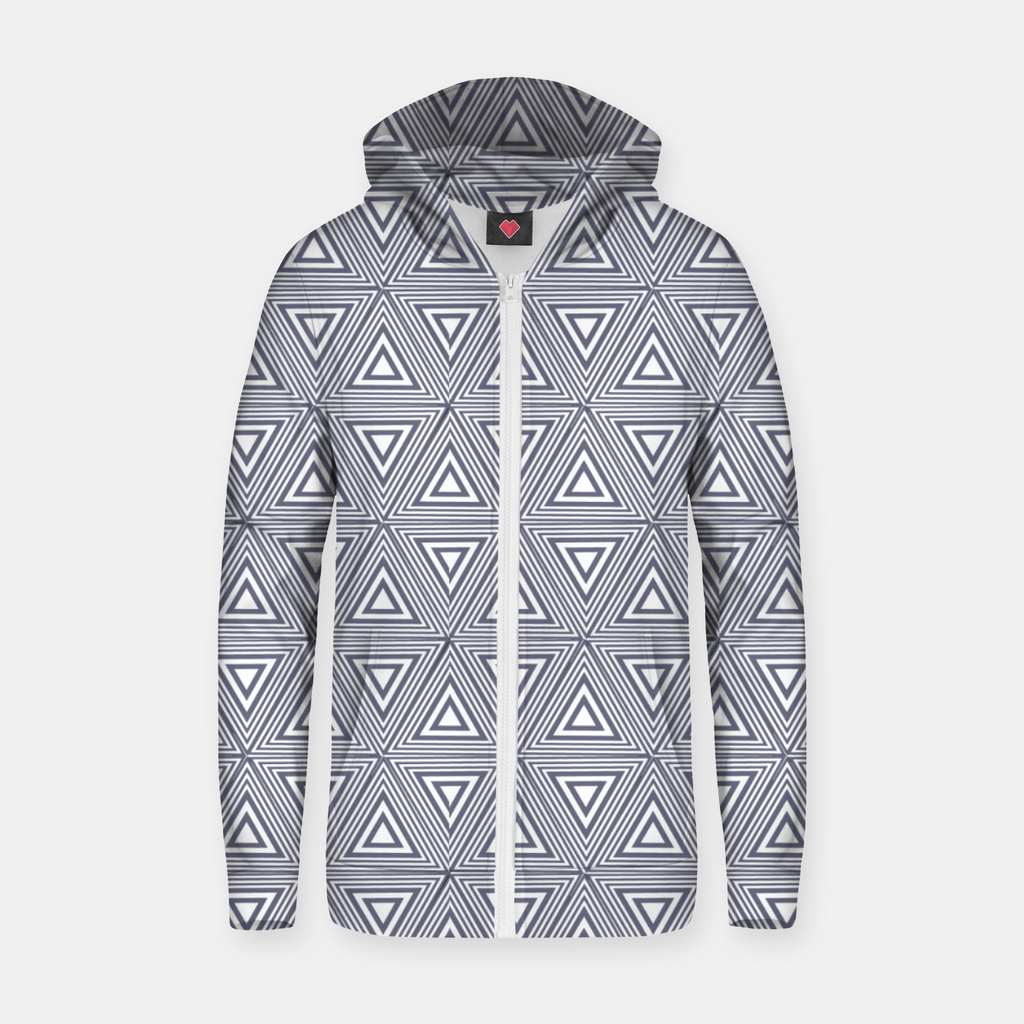 Gray Triangles Zip up hoodie
