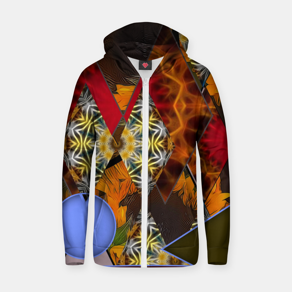 Sunflower Collage Zip up hoodie