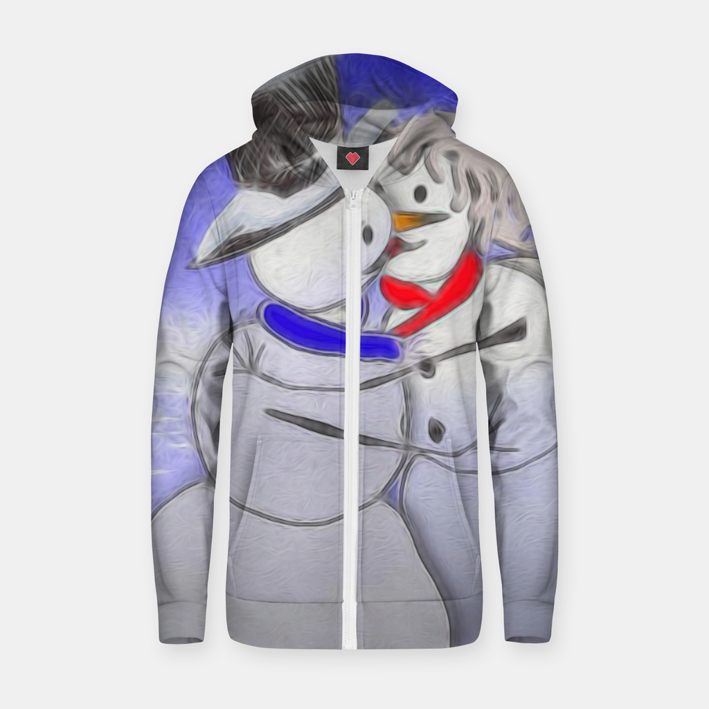Kissing Snow Couple Zip up hoodie