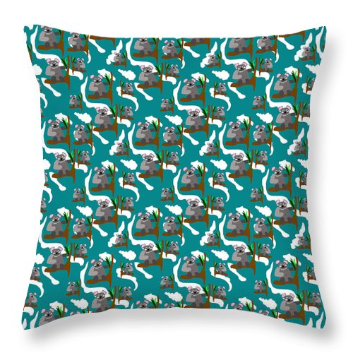 Koala Bears and Clouds - Throw Pillow