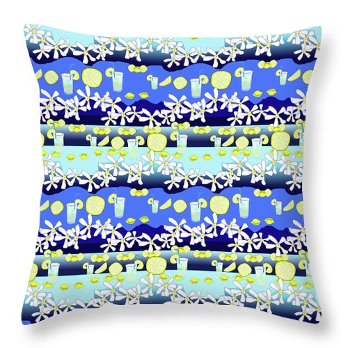 Lemonade Pattern - Throw Pillow