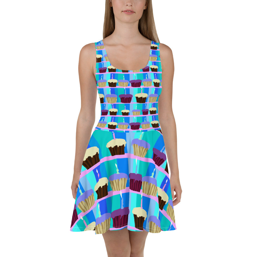 Birthday Cupcakes Skater Dress