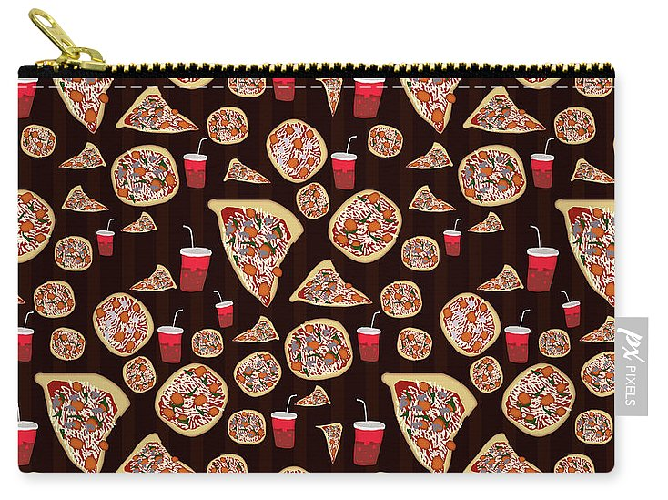 Pizza Pattern - Carry-All Pouch