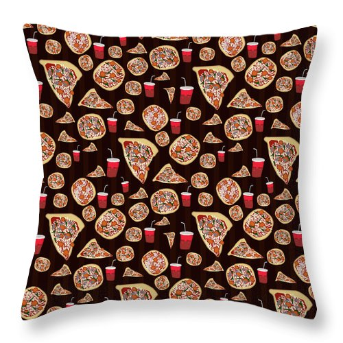 Pizza Pattern - Throw Pillow