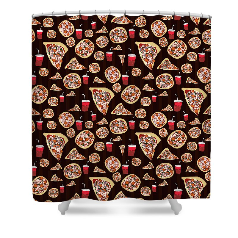 Pizza Pattern - Shower Curtain
