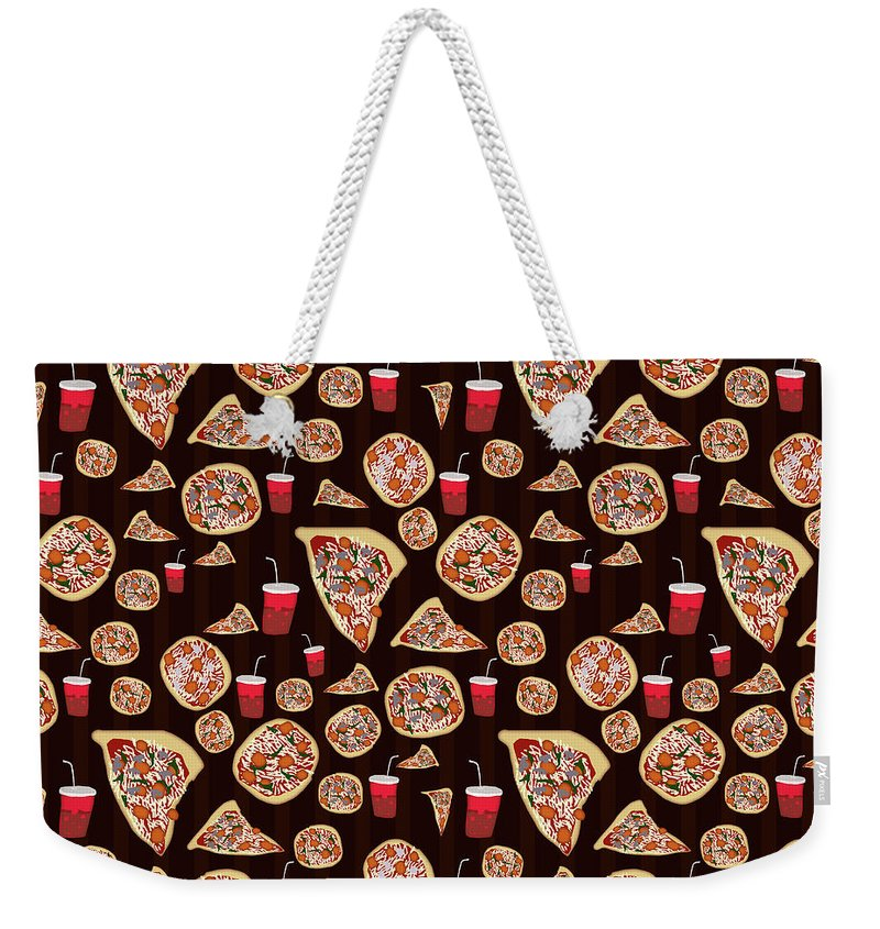 Pizza Pattern - Weekender Tote Bag
