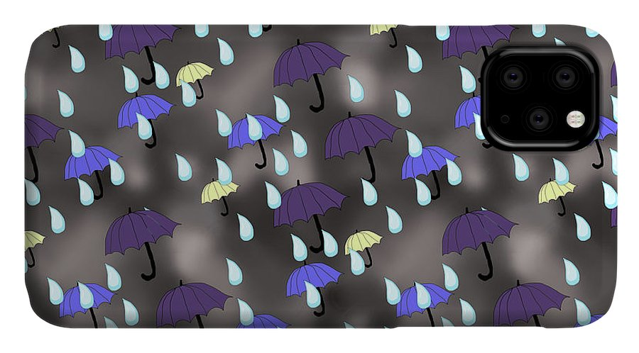 Rain and Umbrellas - Phone Case