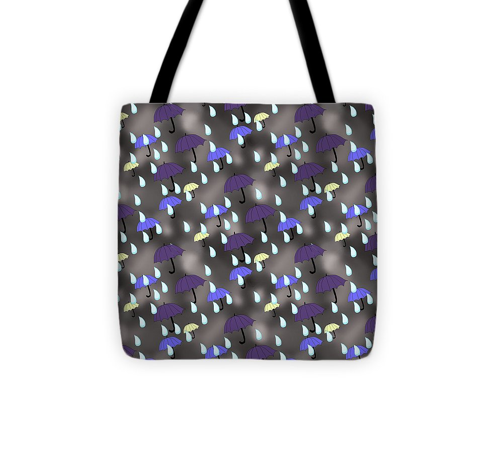 Rain and Umbrellas - Tote Bag