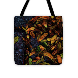 Sidewalk Leaves in Brick - Tote Bag