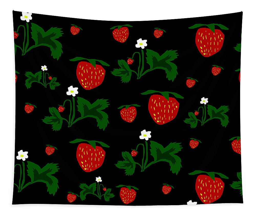 Strawberries Pattern - Tapestry