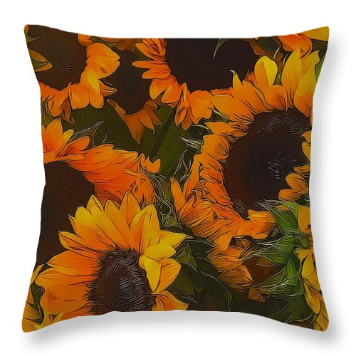 Sunflowers - Throw Pillow