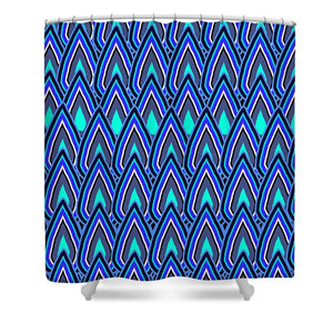 Teardrops In Blue - Shower Curtain