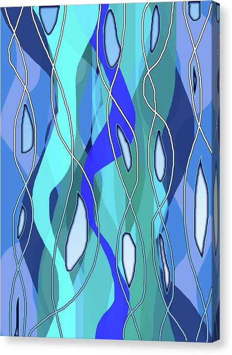 Wavy Blue - Canvas Print