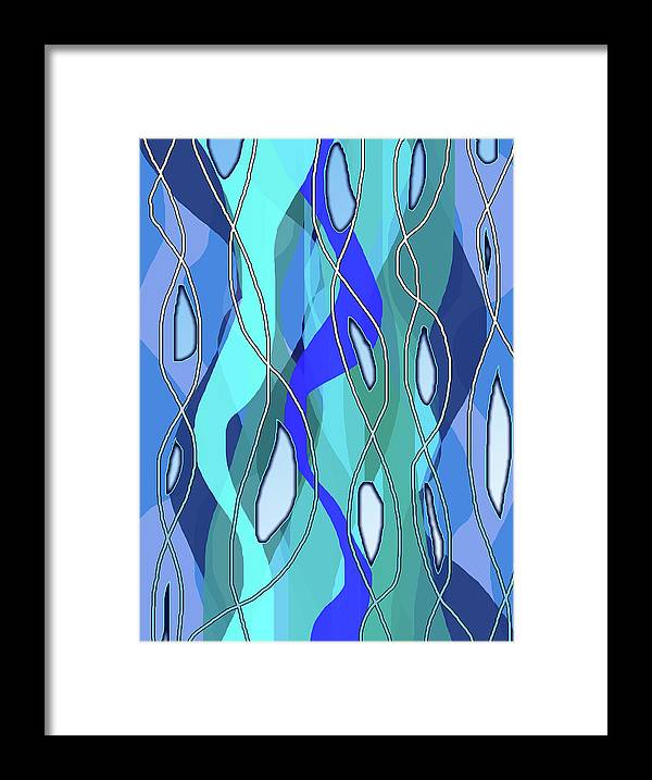 Wavy Blue - Framed Print