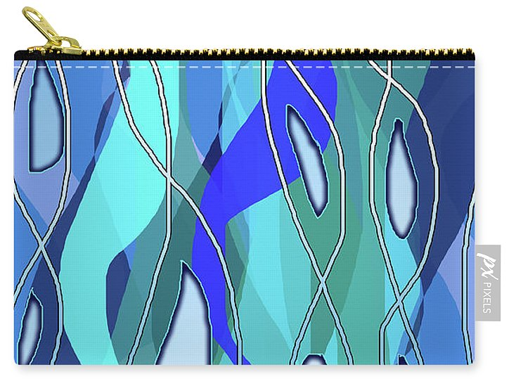 Wavy Blue - Carry-All Pouch