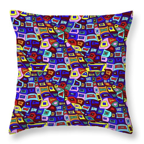 Wavy Squares Pattern - Throw Pillow