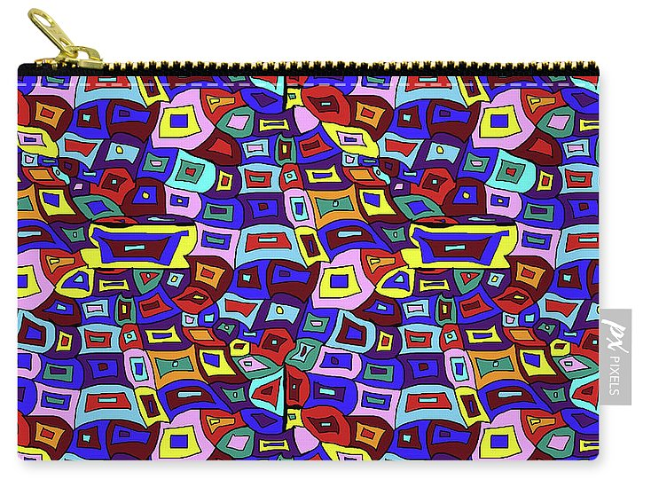 Wavy Squares Pattern - Carry-All Pouch