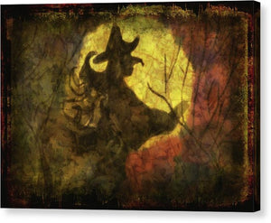 Witch on Texture - Canvas Print