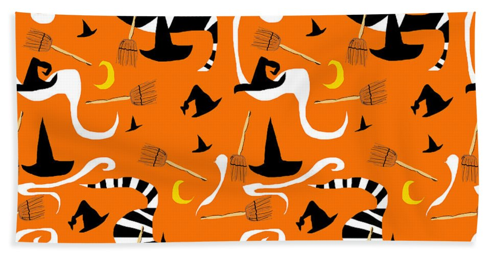 Witches Hats and Brooms - Beach Towel