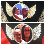 Angel Wing Custom Photo Pendant Necklace