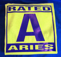 "Tshirts ""Rated Aries"""