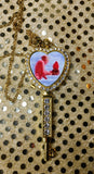 Custom heart/key shaped pendant