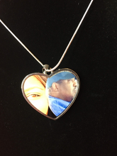 Load image into Gallery viewer, Custom Heart pendant necklace