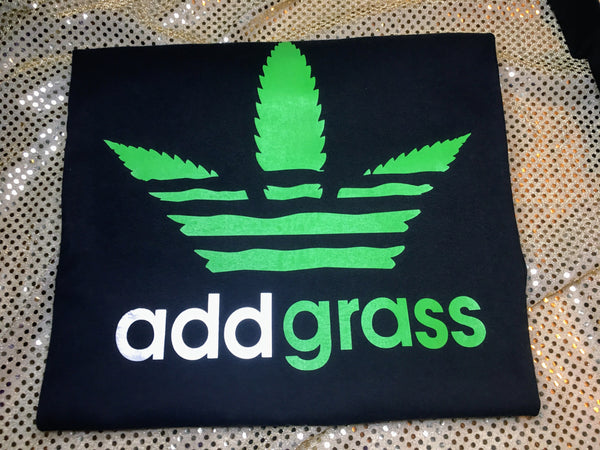 """Cannibis"" Add Grass Tshirt"