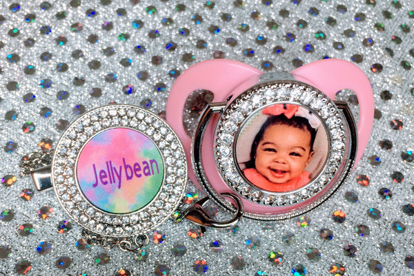 "Custom ""blinged baby pacifier"""