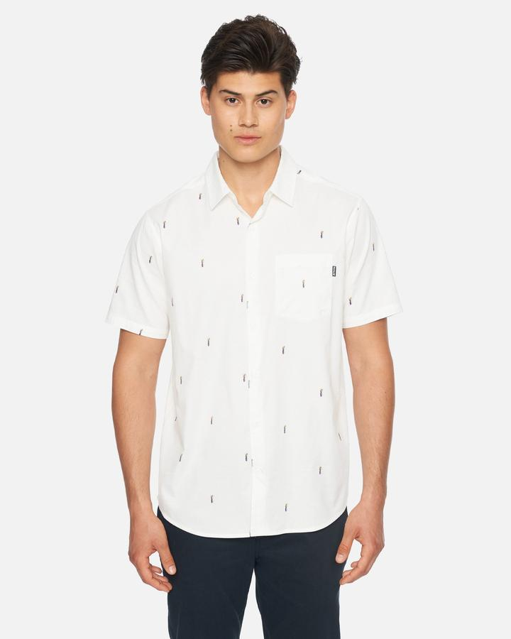 Camisa Hurley Pineapple Stretch Short Sleeve