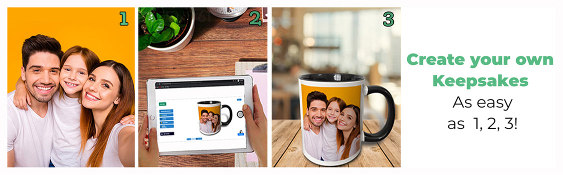 create custom gifts with photos, art, text and more.