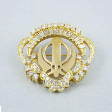 Load image into Gallery viewer, Gold and Diamond Khanda / Adi Shakti pin pendant