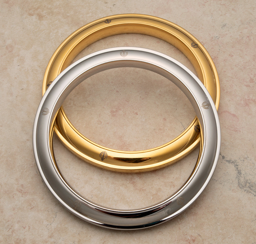 Medium heavierweight solid stainless steel Karas - some with gold tone