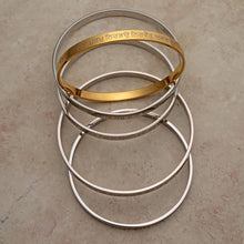Load image into Gallery viewer, Lightweight solid stainless steel Karas - some with gold tone